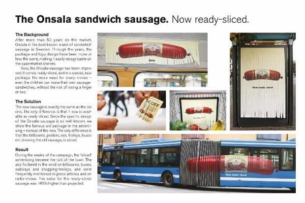 Нарезная реклама для нарезной колбасы