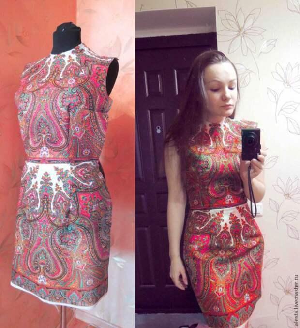 Деловое платье из платка (Diy)