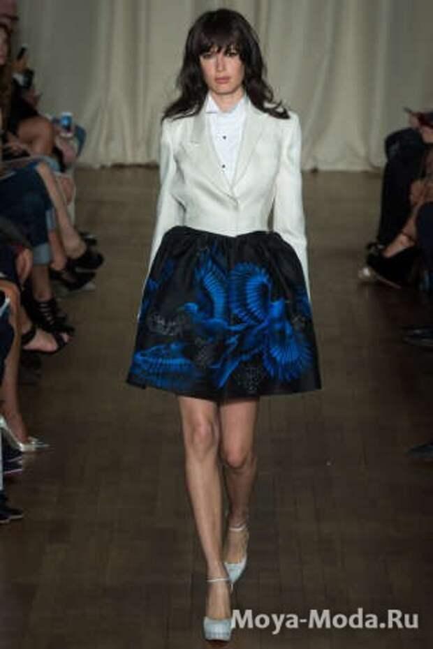 Модные юбки весна-лето 2015 Marchesa
