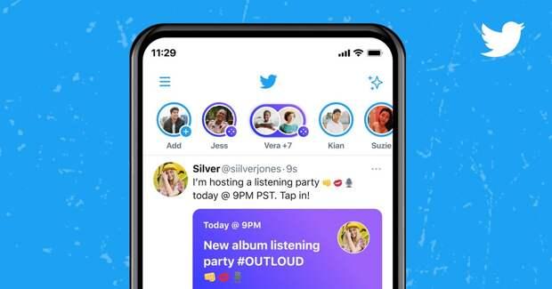 Twitter запустил в России аудиокомнаты с билетами