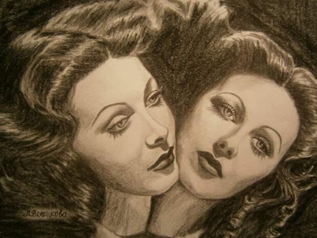 Легенды кино в рисунках Лины Волоцковой.