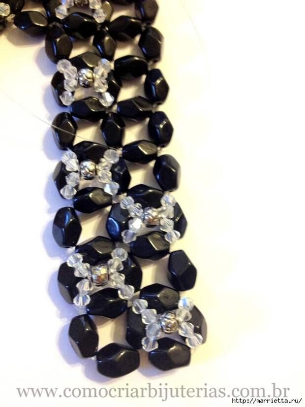стильное ожерелье из бисера и кристаллов. мастер-класс (17) (525x700, 194Kb)