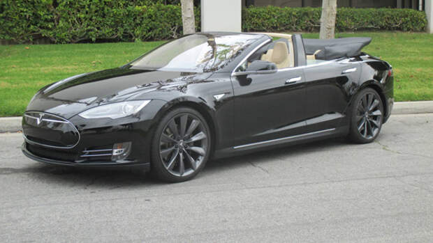 Кабриолет Tesla Model S [Фотогалерея]