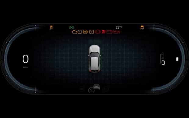 Volvo показала цифровую «приборку» электромобиля. Лаконичная