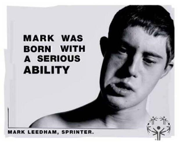 """Надпись: """"Марк родился с серьезными способностями"""""""