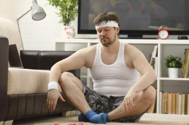 Муж увлёкся спортом и правильным питанием