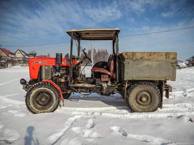 Уникальный самодельный агрегат из Польши самоделка, своими руками, трактор