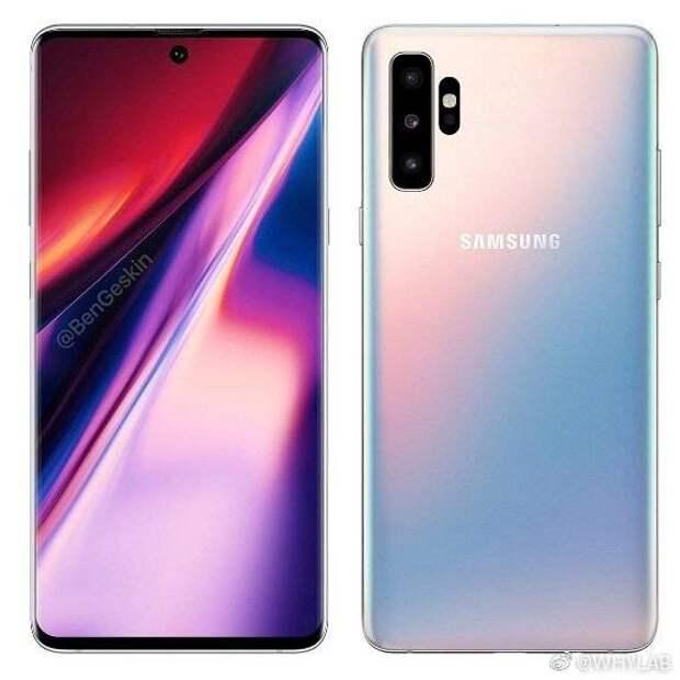 Появились подробности о дизайне флагмана Samsung Galaxy Note10