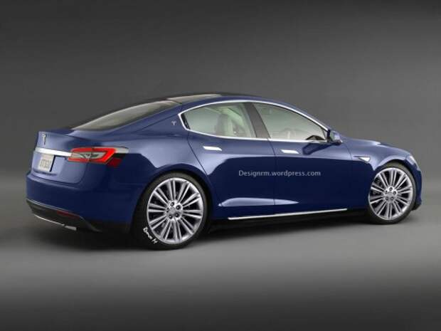 Рендер Tesla Model 3