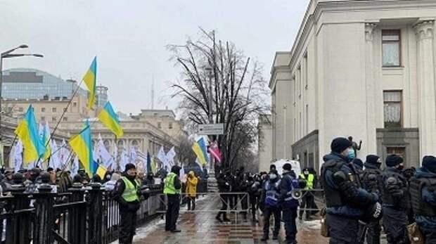 Предприниматели устроили акцию протеста в Киеве