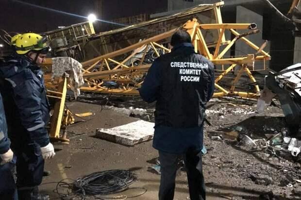 В Краснодаре при падении крана погибли двое рабочих