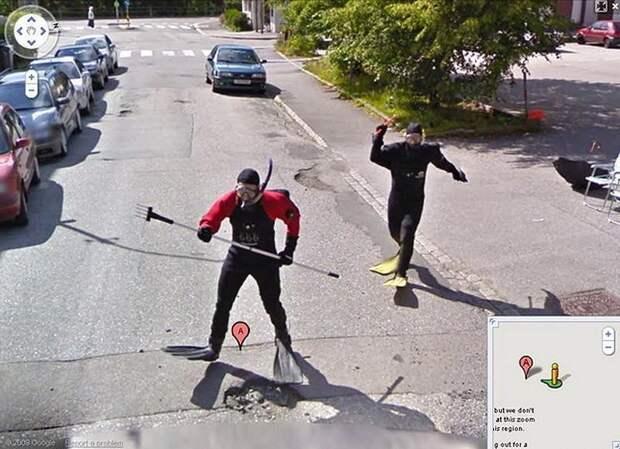 25 самых неожиданных снимков сервиса Google Street View