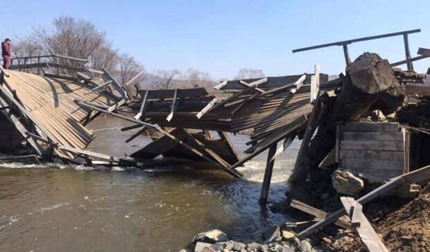 Трех пропавших при падении авто в реку в Приморье признали погибшими