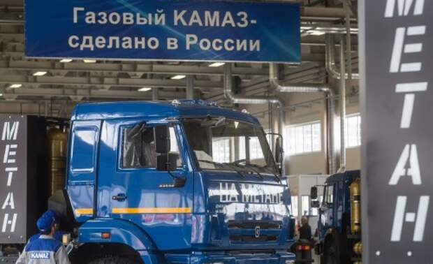 Production line of gas engine trucks launched at Kamaz plant in Tatarstan Republic, Russia