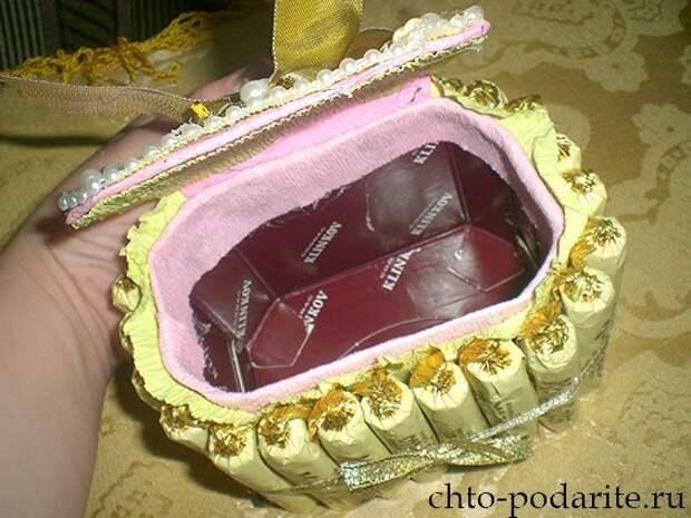 Изготовление шкатулки из конфет, шаг 6
