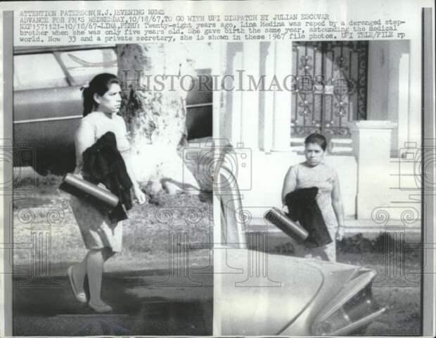 Лина Медина в 1967 году, через 28 лет после рождения первенца