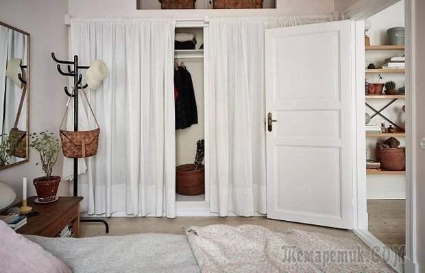 Полезные идеи для создания гардеробной в маленькой спальне