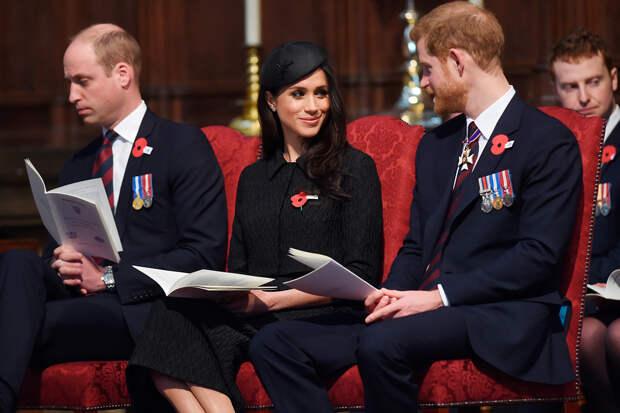 ПринцУильям, Меган Маркл и принц Гарри