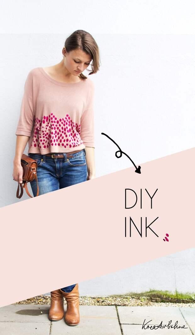 Рисунки на одежде... краской из принтера (Diy)