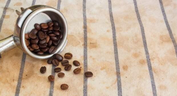 как отстирать пятно от кофе на кухонных полотенцах
