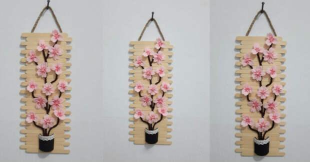 Почти как настоящая «Ветка сакуры» из неожиданно простых материалов