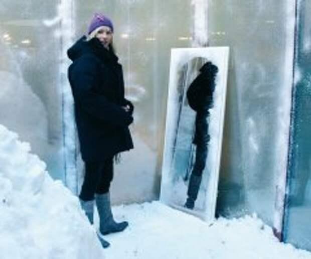 Ледяная примерочная для зимней одежды