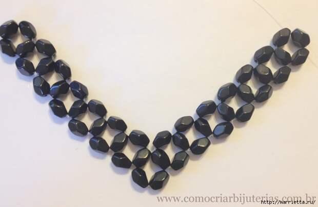 стильное ожерелье из бисера и кристаллов. мастер-класс (10) (700x457, 163Kb)