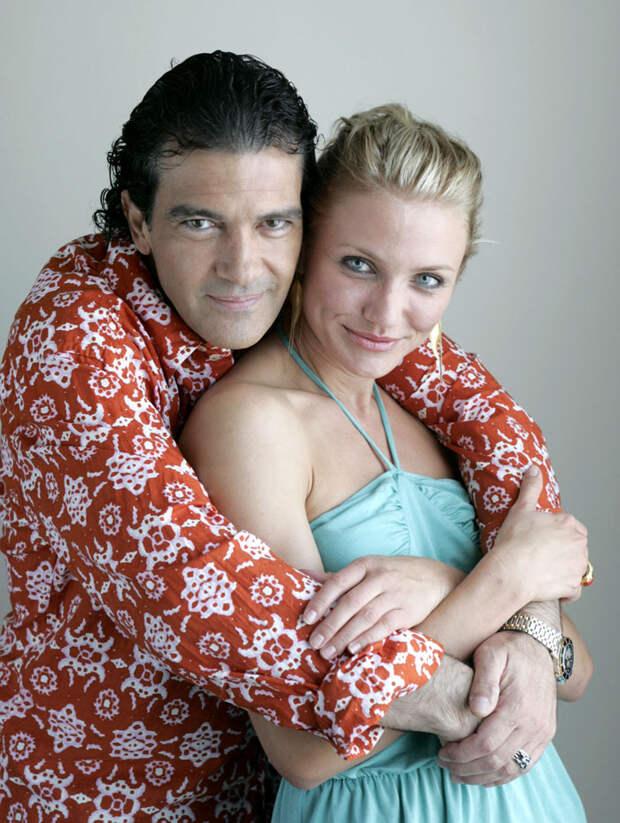 Камерон Диаз (Cameron Diaz) и Антонио Бандерас (Antonio Banderas) в фотосессии для фильма «Шрек 2» (Shrek 2) (2005), фото 4