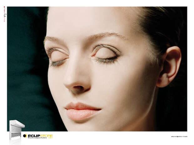 Глазной мутант рекламирует ставни