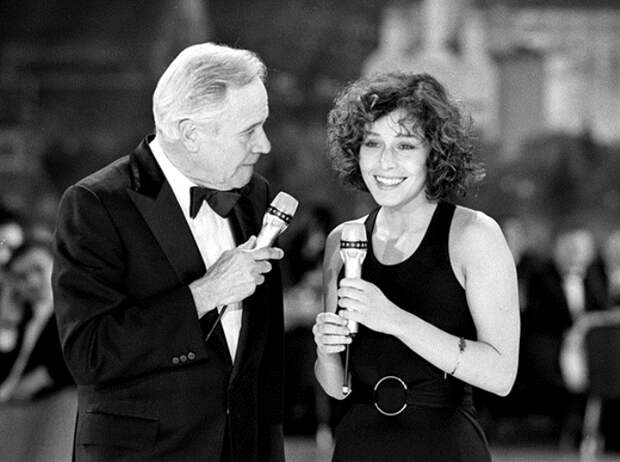 Наталья Негода и Джек Лемонн на церемонии вручения премии *Оскар*, 1990 г.