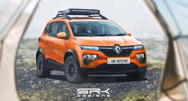 Появились рендеры кросс-вэна Renault Triber за 500 тыс. рублей