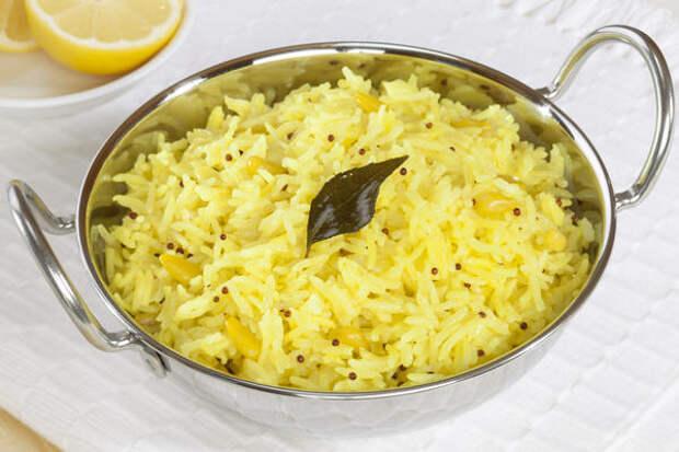 Лимон - разрыхлитель для риса