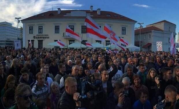 Белорусская оппозиция провела акцию протеста против российской авиабазы