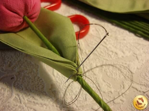 Тюльпаны из ткани 26