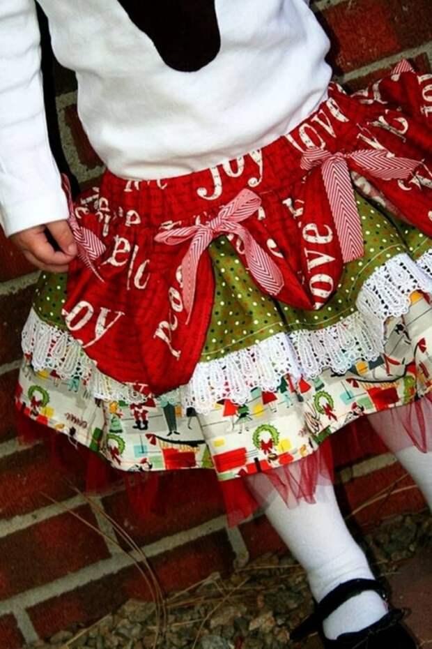 Картинка как сшить нарядную детскую юбку