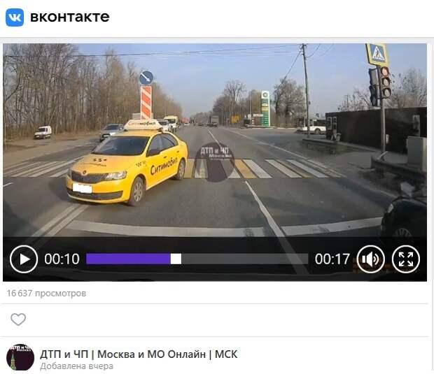 Таксист на Дмитровском шоссе показал «мастер-класс» по лихачеству