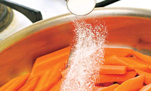 Кладем в еду сахар: делаем вкуснее и овощи, и мясо