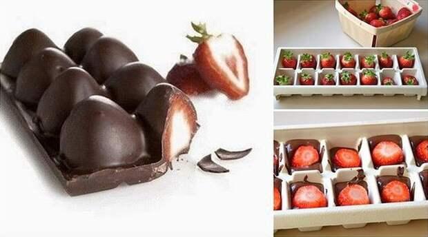 Клубника в шоколаде. еда, прикол, факты, юмор
