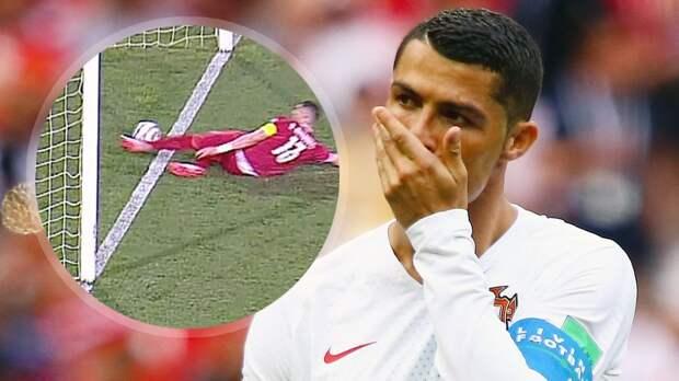 Роналду выкинул капитанскую повязку в конце матча с Сербией. Судья не засчитал его победный гол: видео