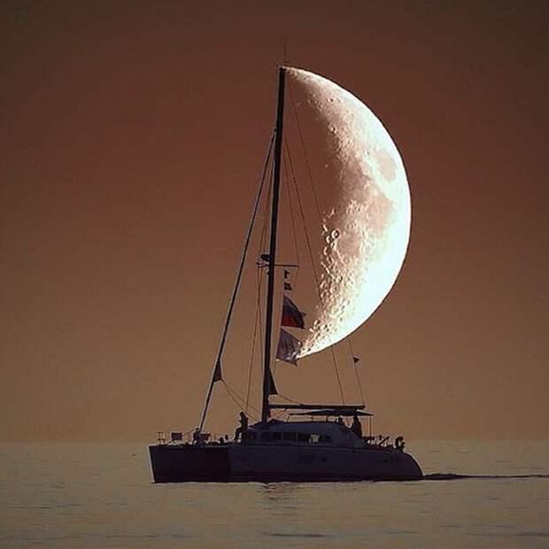 1. Лунный парус момент, фотография
