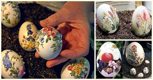 Вышивка на яичной скорлупе — оригинальное искусство, не знающее равных