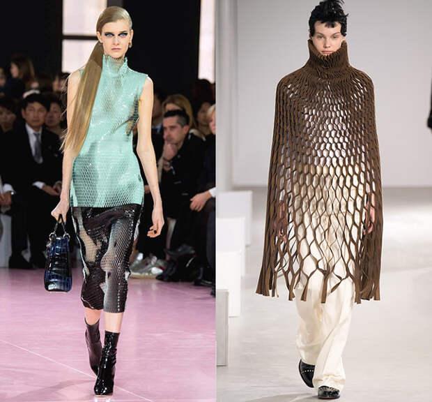 Слева — Christian Dior, справа — Junya Watanabe