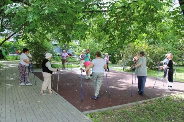 В парке «Ангарские пруды» возобновились занятия на свежем воздухе