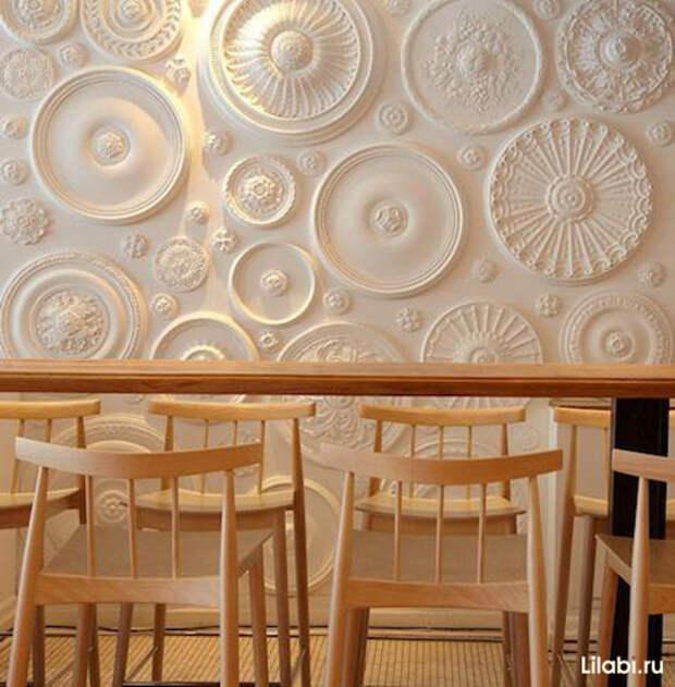 Украшение стен декоративной лепниной фото