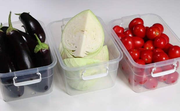 Сохраняем овощи надолго в свежем виде: разложили по контейнерам и сохранили без консервации