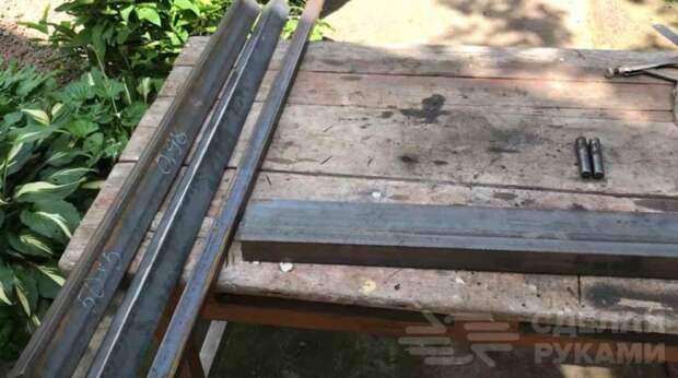 Самодельный листогиб из швеллера и уголка