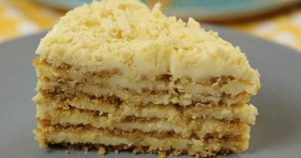 ПОТРЯСАЮЩИЙ ПЛОМБИРНЫЙ торт без выпечки