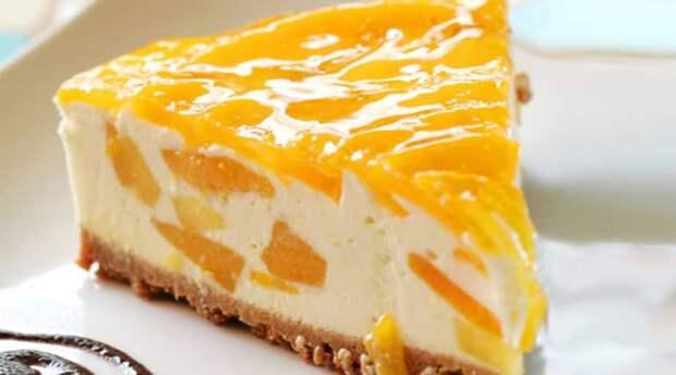 Торт-суфле Персик без выпечки