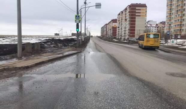 На улице Берша в Ижевске новая дорога пошла волнами