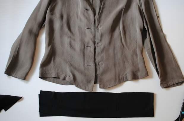 Куртка из жакета (Diy)